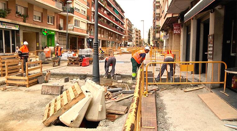 Les obres de l'avinguda cerdanyola acabaran a principis del 2020