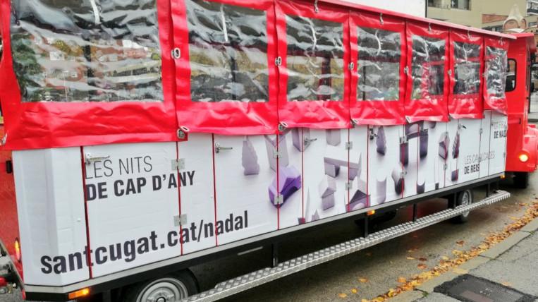 El Trenet de Nadal torna a circular pels carrers de Sant Cugat