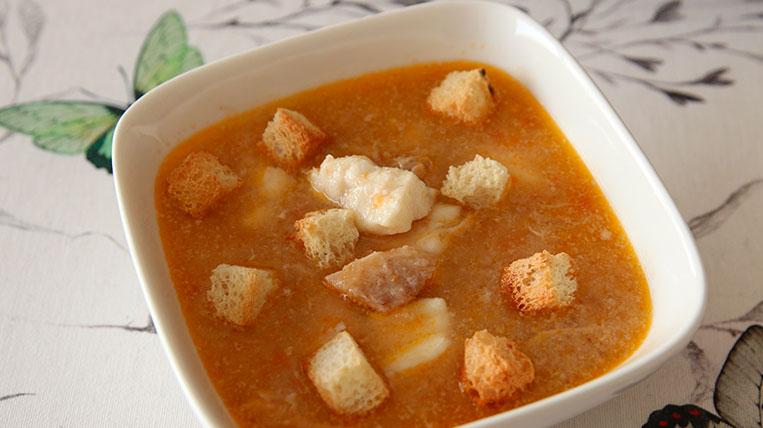 Sopa de peix amb crostons
