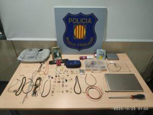 Ingressen a presó tres lladres detinguts per agents de paisà
