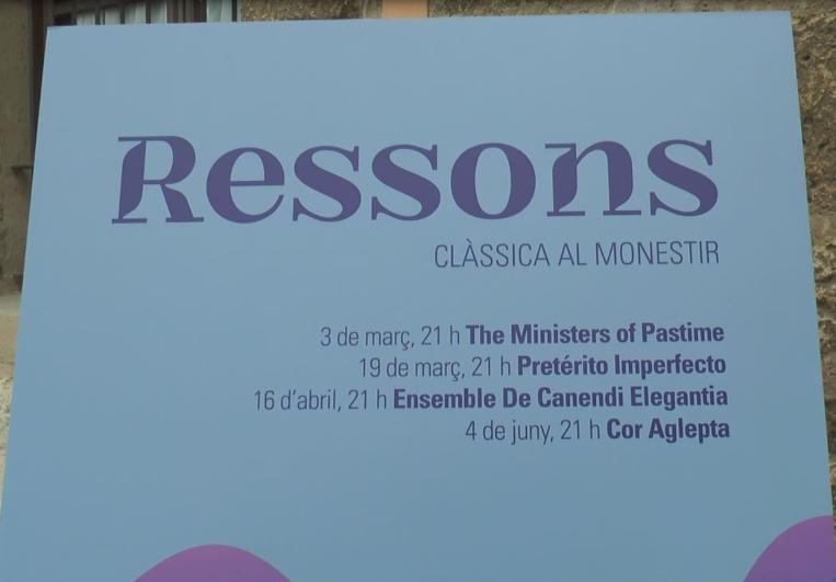 """Arriba """"Ressons"""", el nou cicle de música clàssica al Monestir de Sant Cugat"""