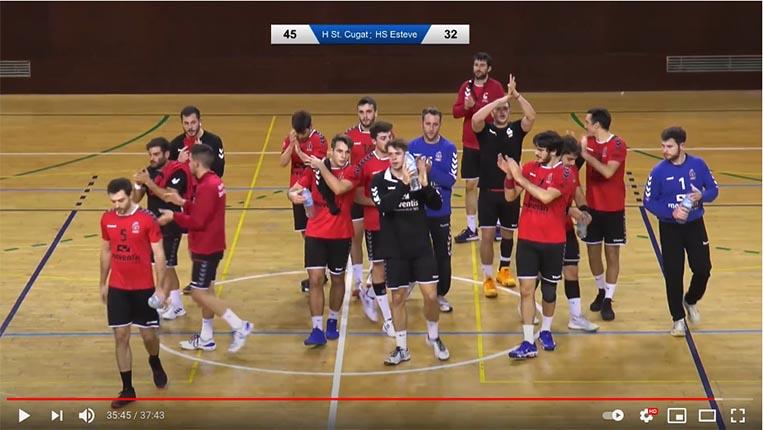 El partit: Club Handbol Sant Cugat – Club de Handbol Sant Esteve Sesrovires. 3/3/21