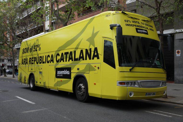 Un autobús de l'ANC circularà per Sant Cugat reclamant que el nou Govern faci la independència