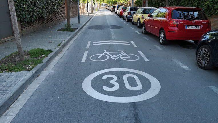 La majoria de carrers de la ciutat passen a ser zona 30 km/h