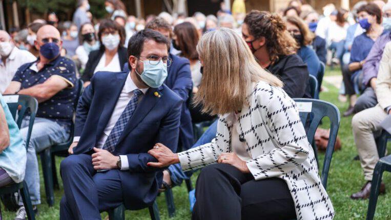 El president Aragonès anuncia que atorgarà la Medalla d'Or de la Generalitat a Arcadi Oliveres en un acte d'homenatge al Claustre