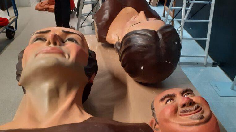 El Joan i la Marieta al Centre de Restauració de Béns Mobles de Catalunya