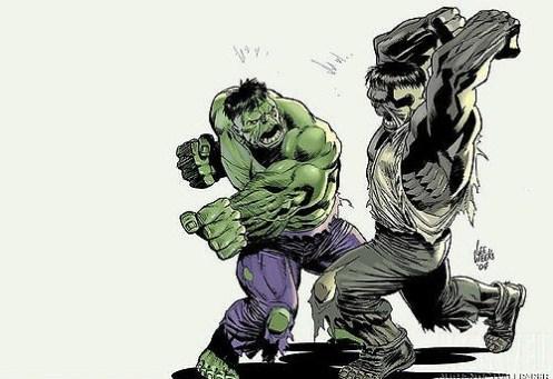 Hulk Green vs Gray
