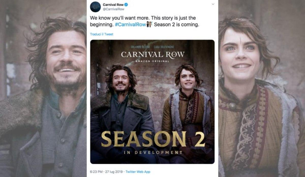 Carnival Row 2 stagione confermata sul profilo Twitter verificato Credits Amazon Prime Video