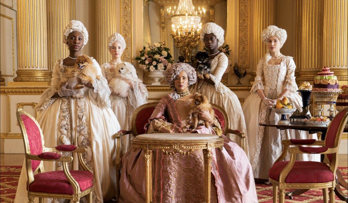 Bridgerton storia vera: Golda Rosheuvel (Queen Charlotte). Credits Liam Daniel/Netflix.