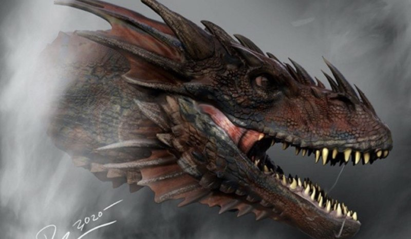 Concept art dei draghi in House of the Dragon. Credits: HBO/WarnerMedia.