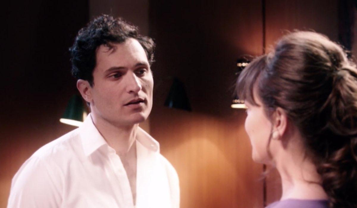 Il Paradiso Delle Signore 5, puntata 146: il flashback di Vittorio Conti e Marta Guarnieri in Conti insieme interpretati da Alessandro Tersigni e Gloria Radulescu. Credits: Rai