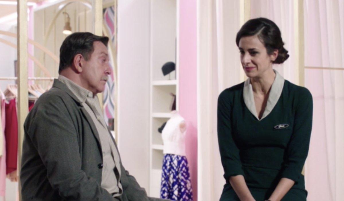 Il Paradiso Delle Signore 5, puntata 149: Armando Ferraris interpretato da Pietro Genuardi e Gloria Moreau interpretata da Lara Komar. Credits: Rai