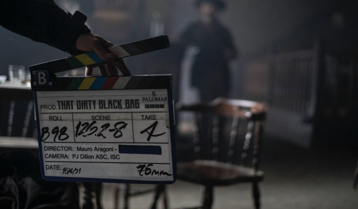 That Dirty Black Bag, foto del ciak dal backstage della serie. Credits: Stefano Montesi