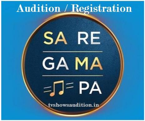 Zee Sa Re Ga Ma Pa Audition, Registration, Date, Place