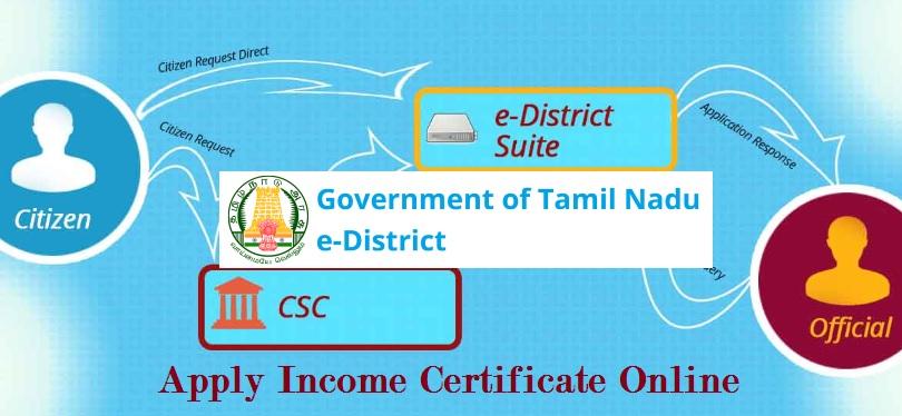 Apply Income Certificate Online Tamil Nadu