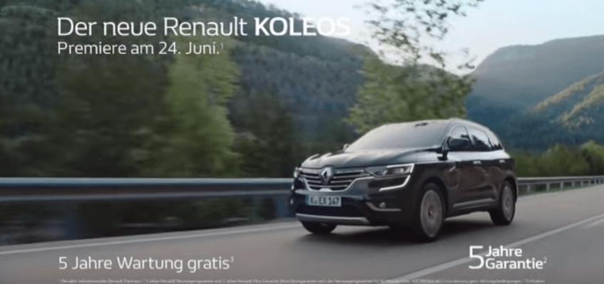 Renault Koleos - Lied aus der Werbung Juni 2017