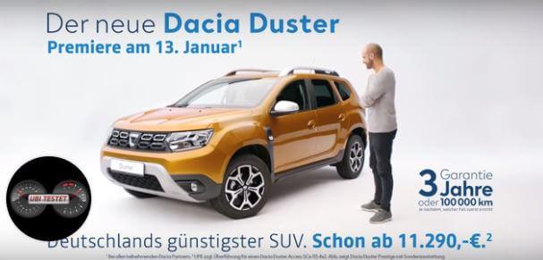 Dacia Werbung