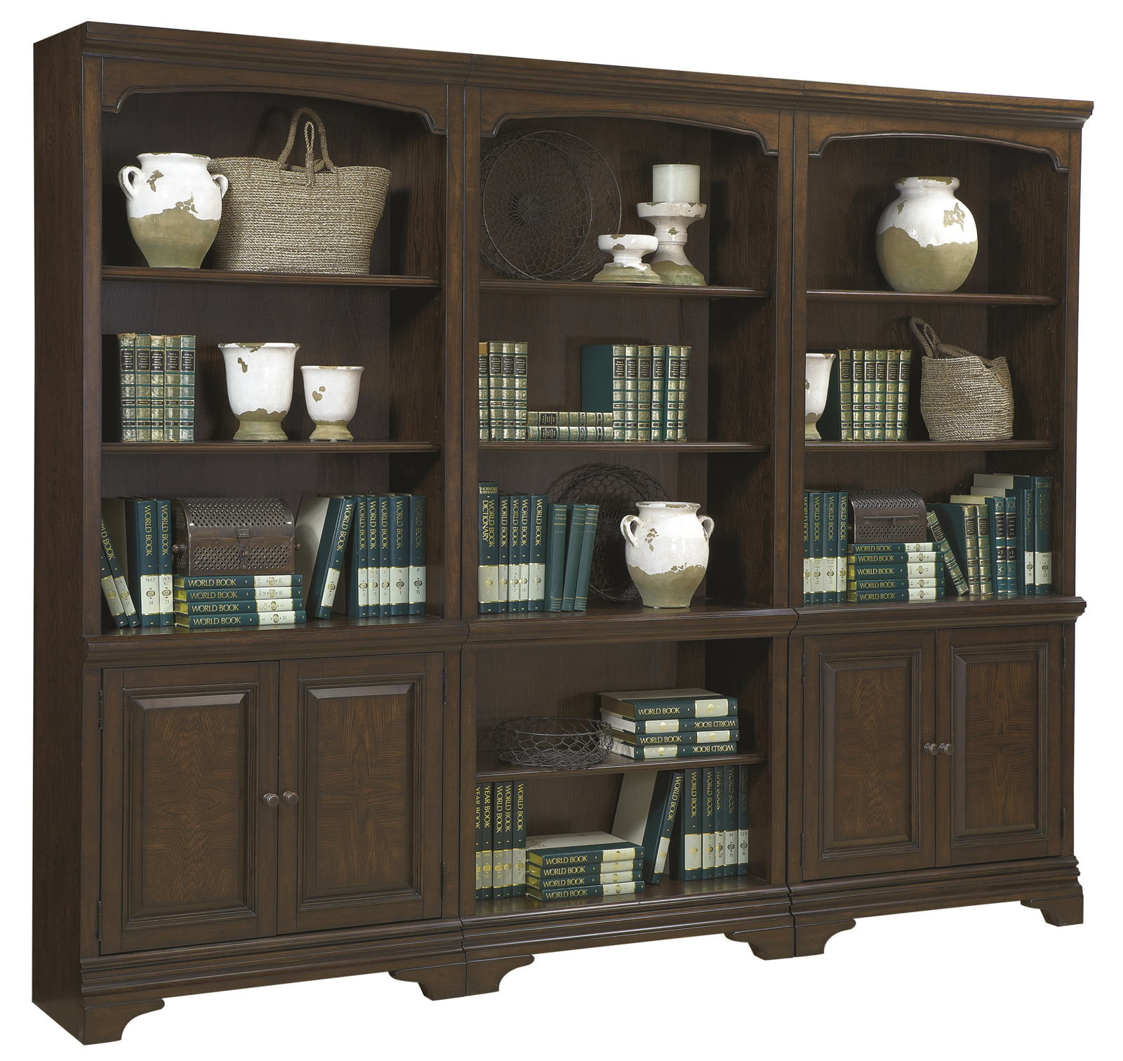 Aspenhome Essex Bookcase Wall In Molasses Brown APPX