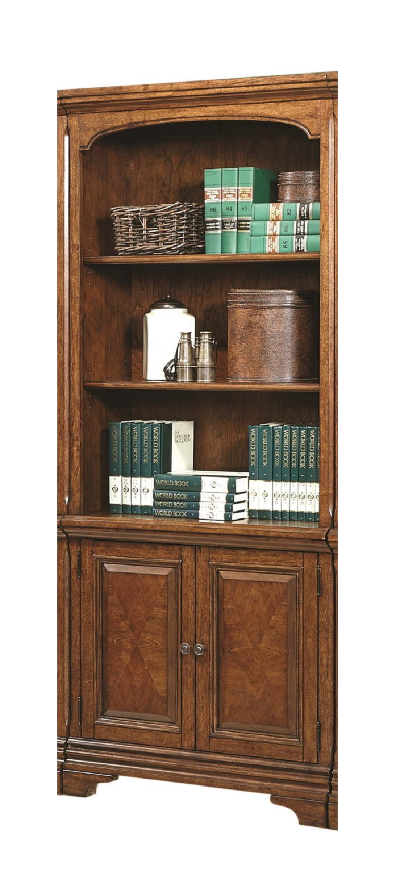 Aspenhome Hawthorne Door Bookcase in Brown Cherry I26332