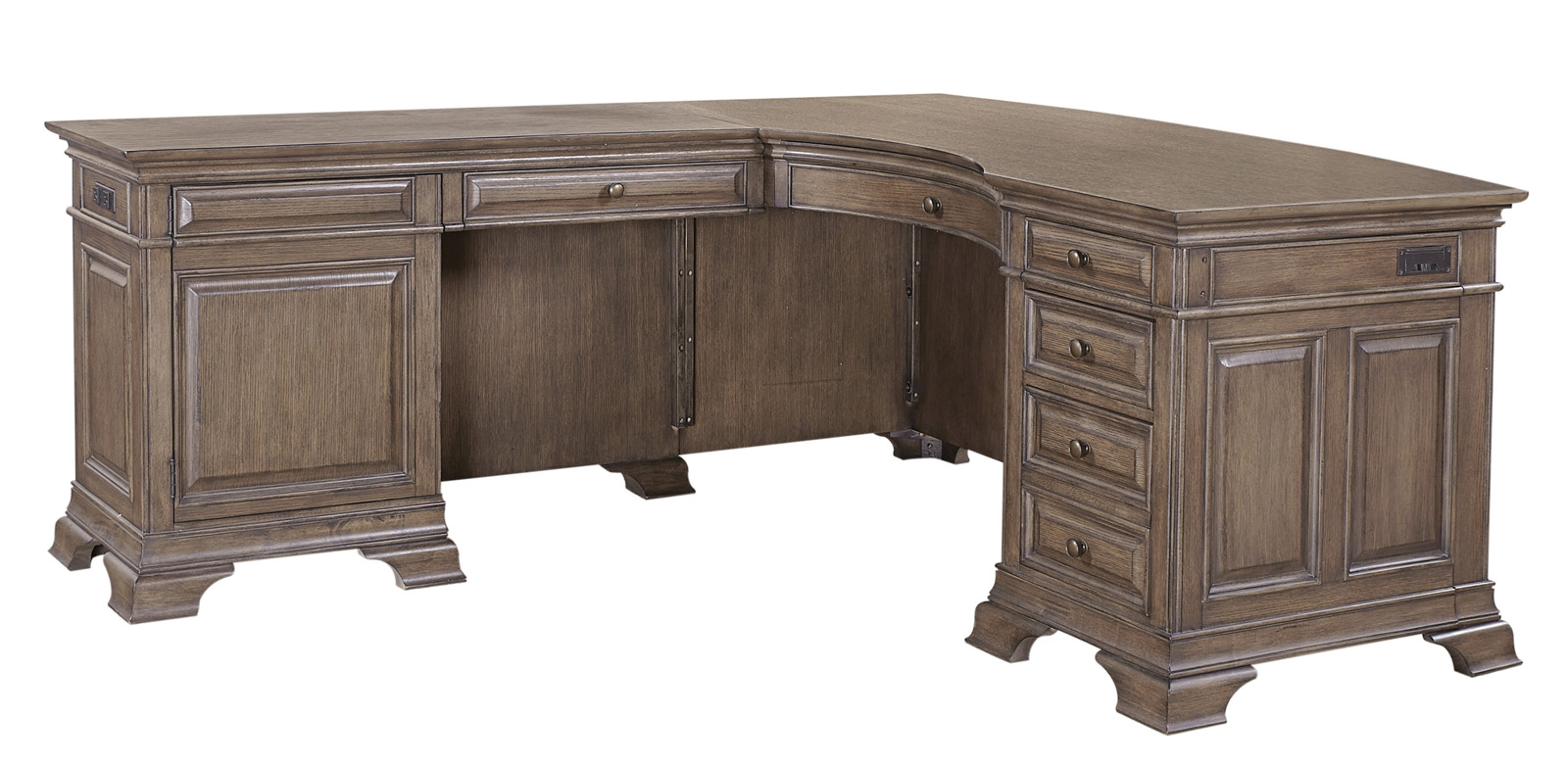 Aspenhome Arcadia 66 Desk And Return In Truffle