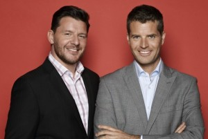 Manu Feildel and Pete Evans