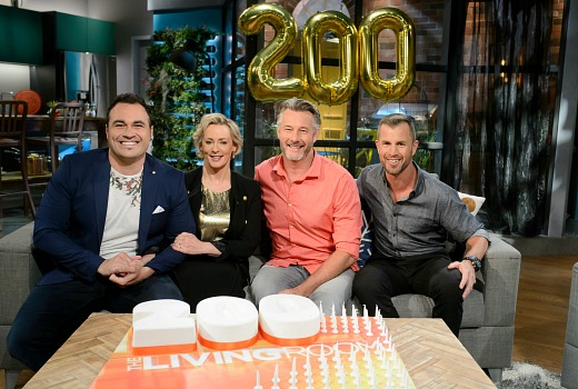 The living room reaches 200 episodes australia news today Better homes and gardens tonight s episode