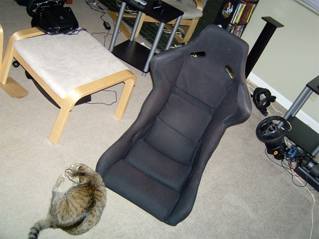 racing simulator chair plans cover rentals hawaii homemade game cockpit fabrication project ghetto playseat img