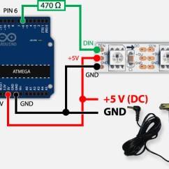 Led Wiring Diagram 9v Pioneer Deh 1500 Tweaking4all Com Arduino Controlling A Ws2812 Strand With Only Running On External Power Supply
