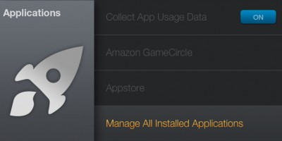 Amazon Fire TV - Manage All Installed Applications