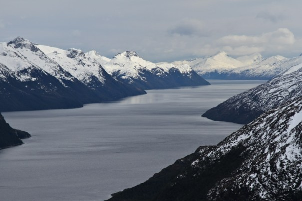 Winter in the north western arm of the Beagle Channel by Christopher James Harris.