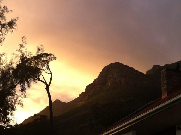 Devils peak in the morning light