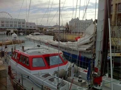 Pelagic Australis snuggled into the East Quay Boat Yard