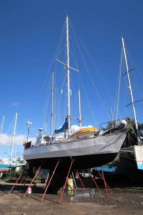 Morgane on the props at Tahiti Nautic Center