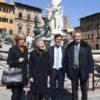 Biancone restaurato, presentato in Piazza Signoria dal sindaco Nardella
