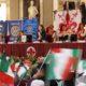festa in onore del tricolore a Palazzo Vecchio con i ragazzi delle scuole