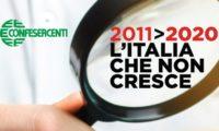 L'Italia che non cresce.  La Toscana diminuisce meno della media nazionale