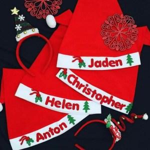 Christmas Hat Singapore - Personalised Santa Hat