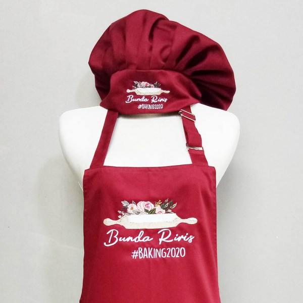 Customised Aprons Singapore - Embroidered Chef Hat & Oven Mitts