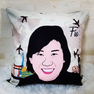 Personalised Cushion Singapore | Caricature Drawing Illustration