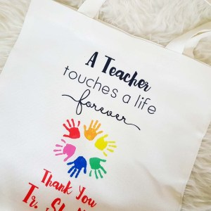 Personalised Gifts for Teachers Singapore - canvas tote bag