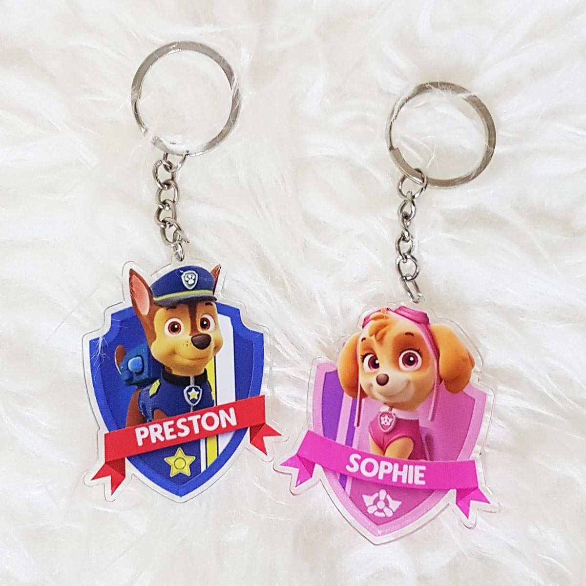 Clear Acrylic Keychain Personalised With Name - Party Favour Singapore