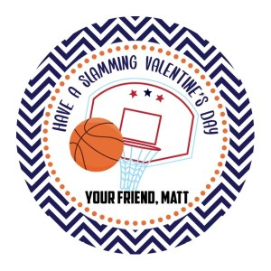 Basketball Party Favour Stickers