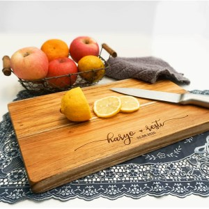 Wooden Cutting Board Singapore | Personalised Engravings with Name