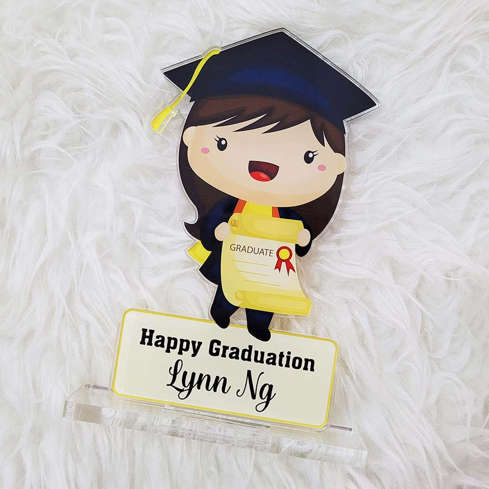 Customised Graduation Gifts Singapore - Acrylic Standee / Plague / Trophy