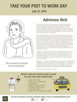 Take Your Poet to Work Day Printable - Adrienne Rich