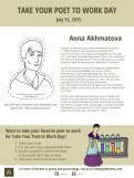 Take Your Poet to Work Day Printable Anna Akhmatova