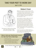 Take Your Poet to Work Day Printable Robert Frost