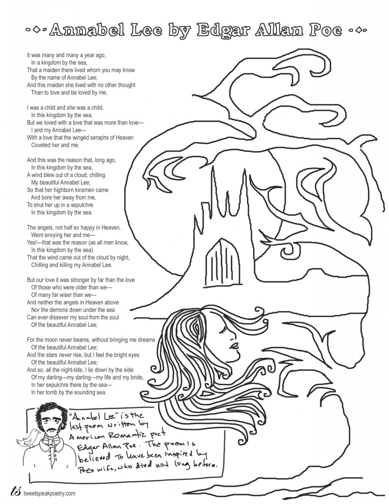 Coloring Page Poems: Annabel Lee