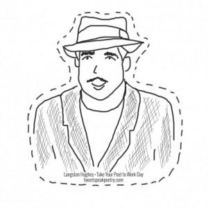 Langston Hughes cutout