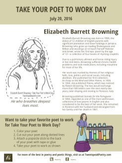 Take Your Poet to Work Day - Printable Elizabeth Barrett Browning